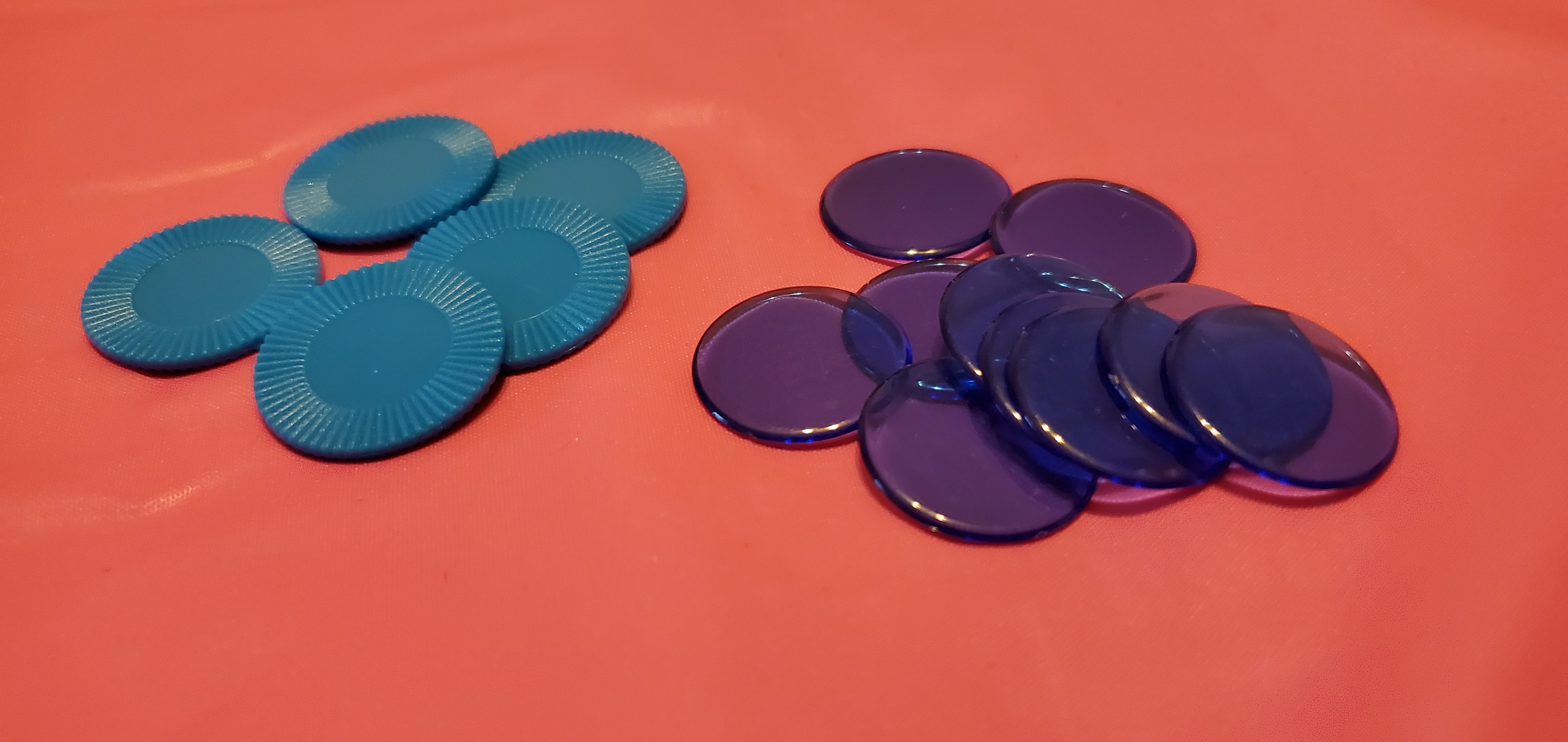 Selection of gaming discs and mini chips.