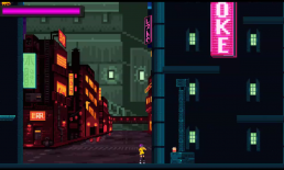 A barrier that blocks the player from exploring further in Tower Hacker